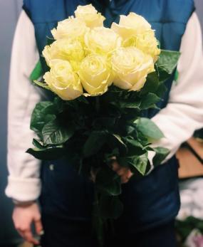 Роза Белая 60см до 25 шт Эквадор