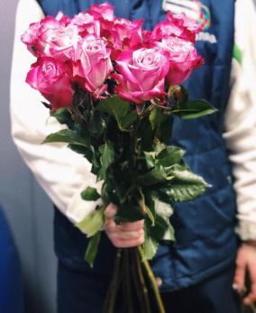 Роза Розовая 60см от 25 шт Эквадор