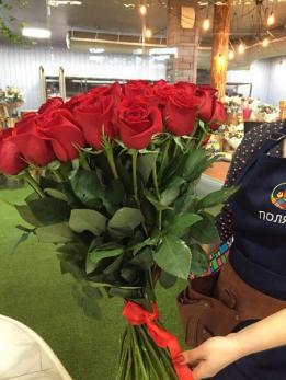 Букет из 51 красной розы 60 см